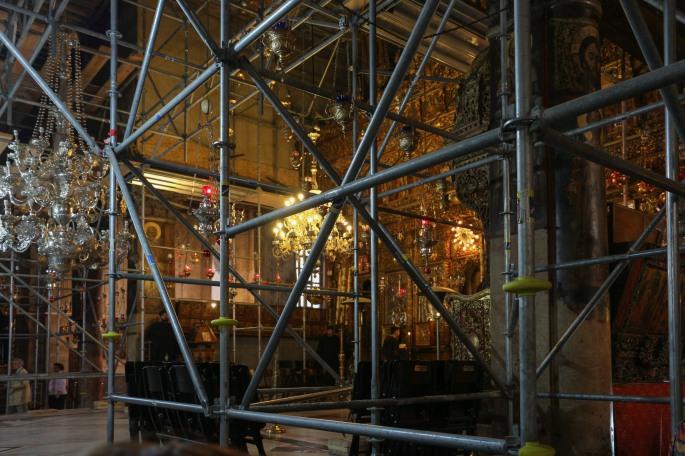 scaffolding church of nativity